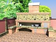 Комбинированные садовые печи