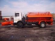 Съемное пескоразбрасывающее оборудование на шасси а/м МАЗ 5337