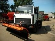 Отвал передний цилиндрический НО-72-01 на МАЗ 5551