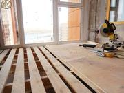 Внутренняя отделка,  утепление балкона,  лоджии. Обшиваю деревянной ваго